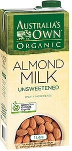 Australia's Own Almond Milk Unsweetened Organic 1L