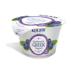 Kolios Greek Yoghurt Fat Free Blueberry 150g