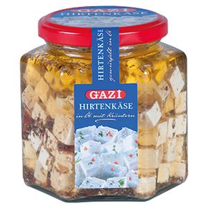 Gazi White Cheese Cubes In Oil 375g