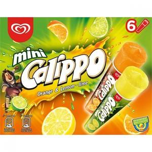 Walls Mini Calippo Orange & Lemon Lime 480ml