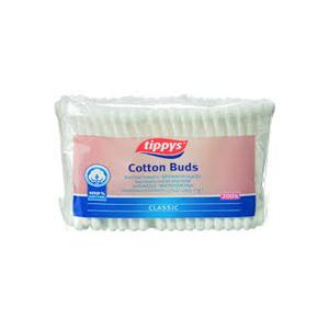 Tippys Cotton Buds Plastic Bag 200s