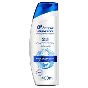 Head & Shoulders Classic Clean 2In1 Anti-Dandruff Shampoo With Conditioner 400ml