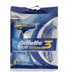 Gillette Razor Blue Simple 3 8s