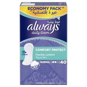 Always Daily Liners Comfort Protect Normal 40pcs