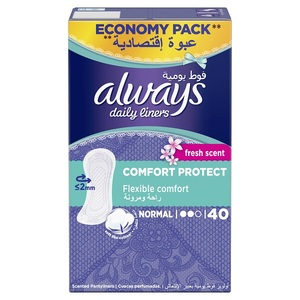 Always Daily Liners Comfort Protect Normal Fresh Scent 40pcs
