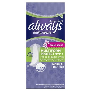 Always Daily Liners Comfort Protect Normal  Fresh Scent Multiform Protect 20pcs