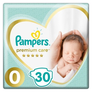 Pampers Premium Care Diapers Size 0 Newborn < 25 Kg Carry Pack 30 pcs