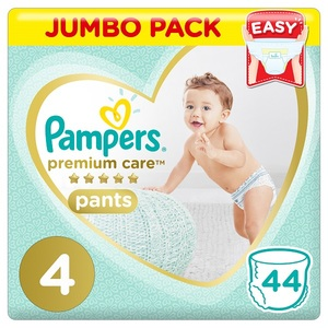 Pampers Premium Care Pants Diapers Size 4 Maxi 9-14 Kg Jumbo Pack 44 pcs