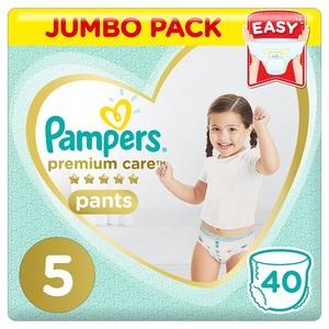 Pampers Premium Care Pants Diapers Size 5 Junior 12-18Kg Jumbo Pack 40 pcs