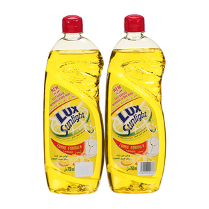 Lux Dishwashing Liquid Lemon 2x750ml