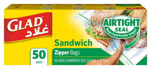 Glad Zipper Sandwich Bag 50s