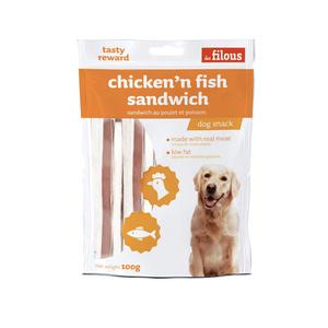 Les Filous Chicken N Fish Sandwich 100g