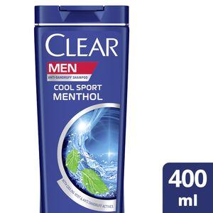 Clear Men's AntiDandruff Shampoo Cool Sport Menthol 400ml