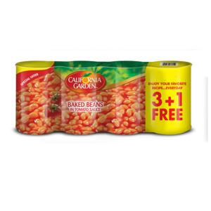 California Garden Baked Beans In Tomato Sauce 4x420g