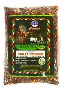 Peacock Organic Chilly Crushed 250g