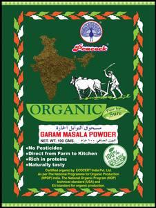 Peacock Organic Garam Masala Powder 100g
