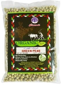 Peacock Organic Green Peas 500g