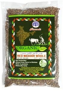Peacock Organic Red Masoor Whole 500g