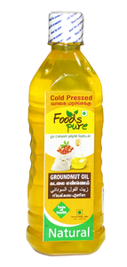 Foods Pure Cold Pressed Groundnut Oil 1L