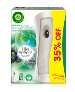 Air Wick Air Freshener Freshmatic Auto Spray Life Scents Forest Waters 250ml