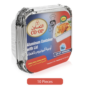 Co-op Aluminum Heavy Duty Lid Container 10pc
