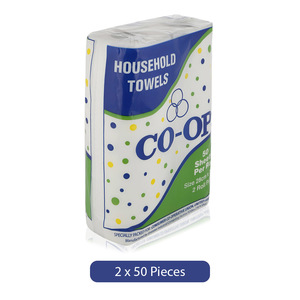 Co-op Household Towels Roll 2pc