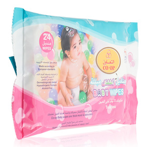 Co-op Tearless Baby Wipes 24pc