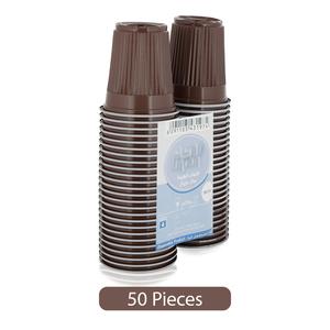 Union Plastic Coffee Cups Brown 50pc