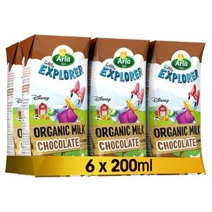 Arla Disney Organic Chocolate Milk 6x200ml