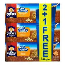 Quaker Oats Cookies Honey Nuts 3x126g