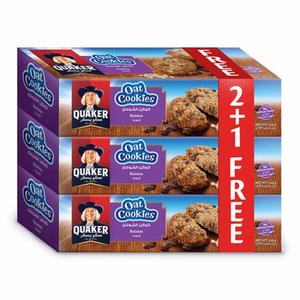 Quaker Oats Cookies Raisins 3x126g