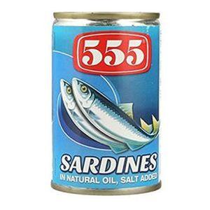 555 Sardines In Natural Oil 155g