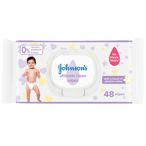 Johnson's Baby Wipes Ultimate Clean 48s