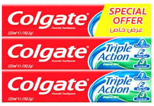 Colgate Toothpaste Triple Action 3x125ml