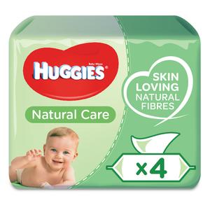 Huggies Aloe Vera Baby Wipes 4x56s