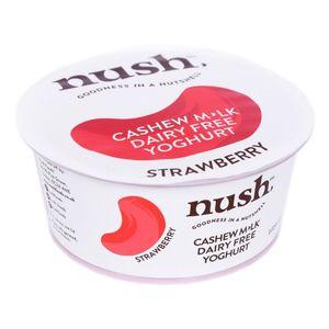 Nush Organic Cashew Milk Strawberry Yoghurt Dairy Free 125g