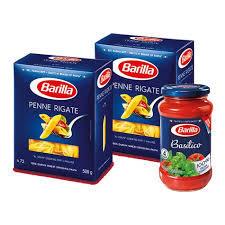 Barilla Pasta Penne Rigate + Basilico Sauce 2x500g+400g