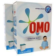 Omo Active Auto Laundry Powder For Sensitive Skin 2x2.5kg