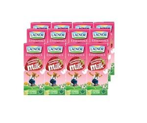 Lacnor Stawberry Milk 12x180ml
