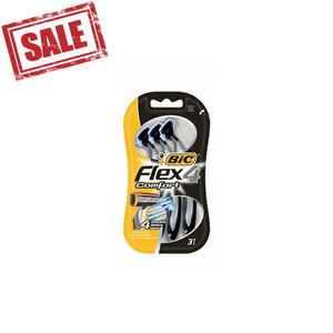 Bic Flex 4 Comfort Blister Razors 3s