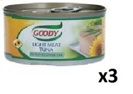 Goody Light Meat Tuna In Sunflower Oil 3x185g