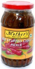Mother's Recipe Red Stuffed Chilli Pickle 400g
