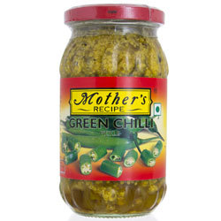 Mothre's Recipe Green Chilli Pickle 400g