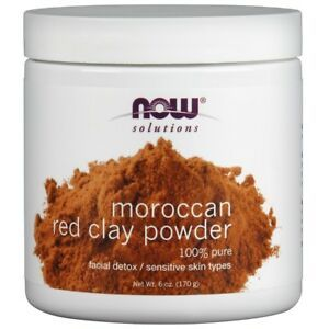 Now Solutions Moroccon Red Clay Powder 100% Pure 170g