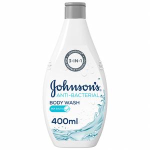 Johnson's Body Wash Anti-Bacterial Sea Salts 400ml