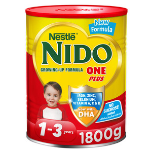 Nido One Plus Growing Up Milk Powder For Toddlers 1 3 Years Tin 1800g