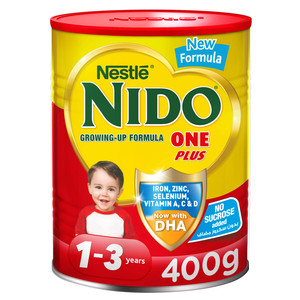 Nido One Plus Growing Up Milk Powder For Toddlers 1 3 Years Tin 400g