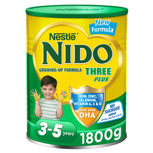 Nestle Nido Three Plus Growing Up Milk Powder For Toddlers 3-5 Years 1.8kg