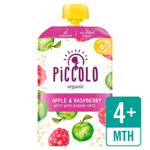 Piccolo Organic Raspberry & Apple With Soaked Oats 100g