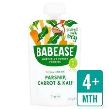 Babease Organic Parsnip, Carrot & Kale 100g
